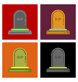 assembly flat icons halloween grave vector image vector image