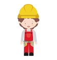 avatar worker with toolkit and curly hair vector image