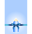 background with baby bottle and bow vector image vector image