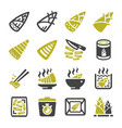 bamboo shoot icon vector image vector image