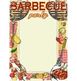 Barbecue background with space for text vector image vector image