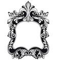 baroque mirror frame imperial decor design vector image vector image