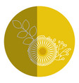 beautiful sunflower decoration icon vector image vector image