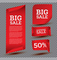 big sale banner set on transparent background vector image vector image