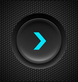 black button with blue fast forward sign on vector image vector image