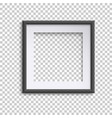 blank white and black picture frame square empty vector image vector image