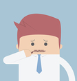 Businessman zipped his mouth Inarticulate concept vector image vector image