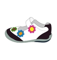 Children sandals for girls vector image