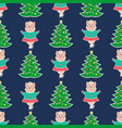 christmas seamless pattern1 vector image vector image