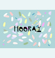 confetti greeting card design vector image vector image
