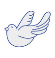 cute dove animal peace symbol vector image