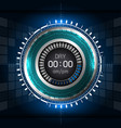 cyber digital timer vector image vector image