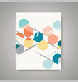design magazine cover with abstract vintage vector image vector image