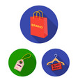 e-commerce purchase and sale flat icons in set vector image vector image