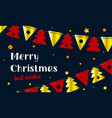 festive background merry christmas and happy new vector image vector image