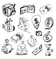 Finance and money icons collection vector image vector image