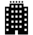 five star hotel icon vector image vector image