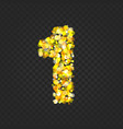 gold glittering number 1t vector image