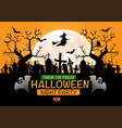 halloween night party holiday festival on orange vector image