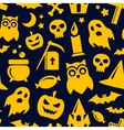 Halloween seamless pattern background vector image
