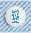 happy fathers day circle banner vector image vector image