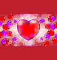 happy valentines day sale banner with red and vector image vector image