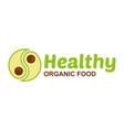 healthy food logo vector image