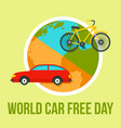 international car free day background flat style vector image vector image