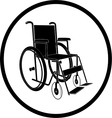 invalid chair icon vector image