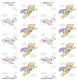 kid and plane fly seamless pattern superhero boy vector image vector image