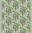 leaves seamless pattern spring floral birch leaf vector image vector image