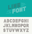 linear font vector image vector image