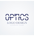 logo design optics vector image