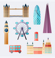 london travel buildings and famous landmarks big vector image vector image