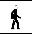 man with a cane on a walk icons senior adult vector image vector image