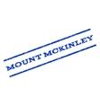 Mount Mckinley Watermark Stamp vector image vector image