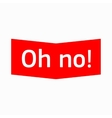 Oh no icon simple style vector image vector image