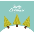Pine tree and snow icon Merry Christmas design vector image