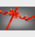 red ribbon on white background realistic vector image