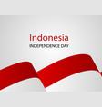 red white confetti concept design 17 august happy vector image vector image