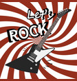 rock guitar poster music promo flyer vector image