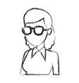 school teacher cartoon vector image vector image