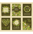 Set of six nature banners with floral elements and vector image vector image
