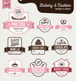 set sweet bakery and bread labels design vector image vector image