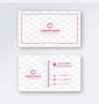 simple professional business card template vector image vector image