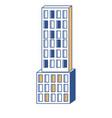 skyscraper building icon in color sections vector image vector image