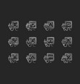 sockets black glyph icons set on white space vector image vector image