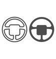 steering wheel line and glyph icon car wheel vector image