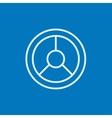 Steering wheel line icon vector image vector image