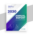 stylish business annual report brochure template vector image vector image